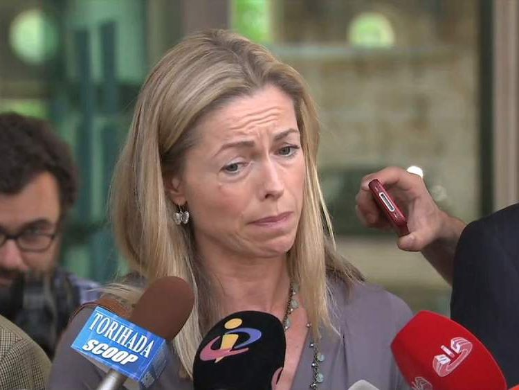 Kate McCann shows the strain as she is interviewed by Portuguese media
