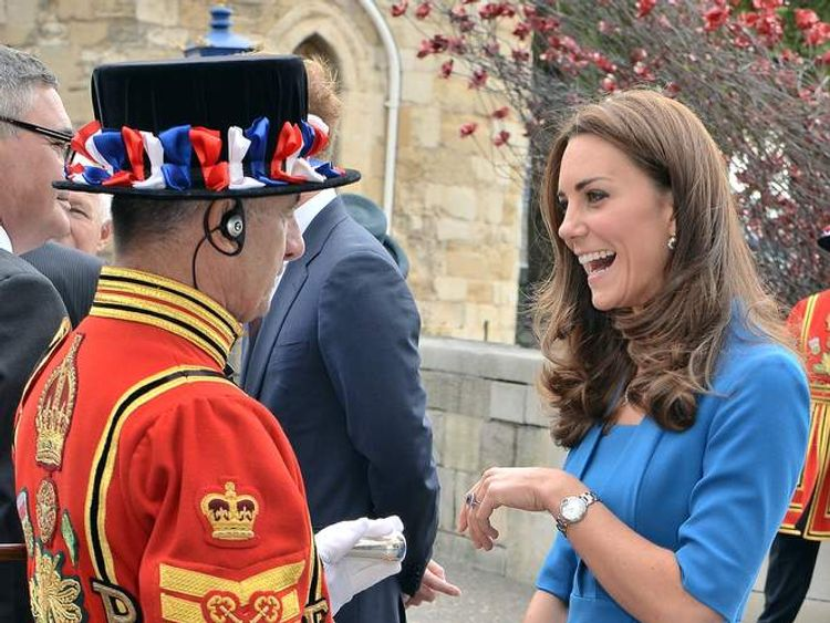 Duchess of Cambridge pictured during one of her most recent engagements