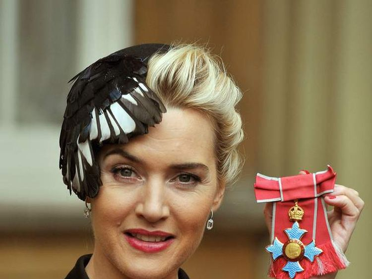 Kate Winslet with her CBE