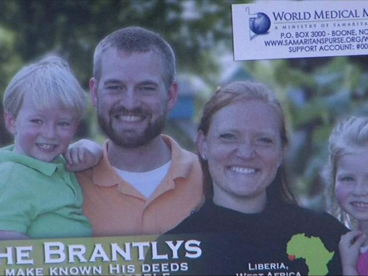 Kent Brantly with his wife Amber and children
