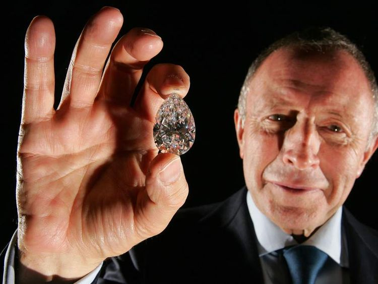 Laurence Graff with one of his diamonds