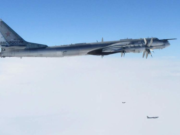 Russian Tupolev 95 intercepted by RAF