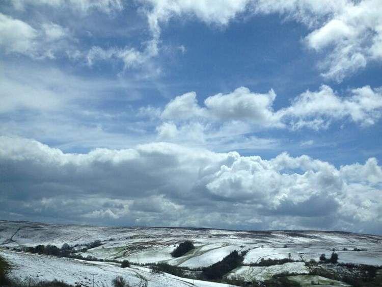 Snow in Llanbadarn Fynydd, Mid Wales