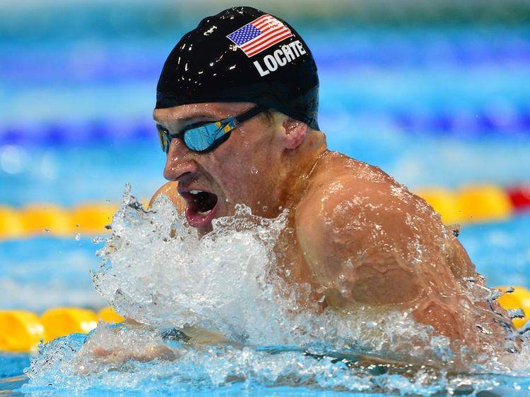 American swimmer Ryan Lochte at London Olympics