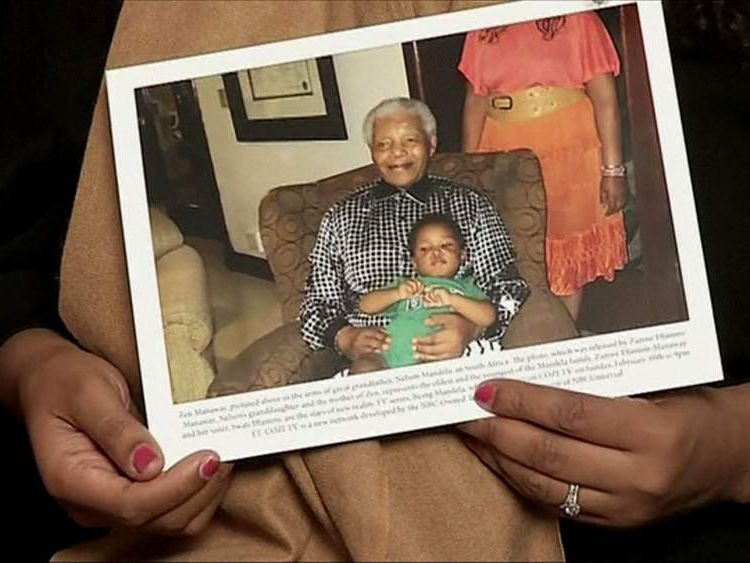 Nelson Mandela and his great grandson