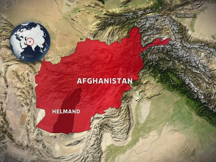 Map of Helmand Province in Afghanistan