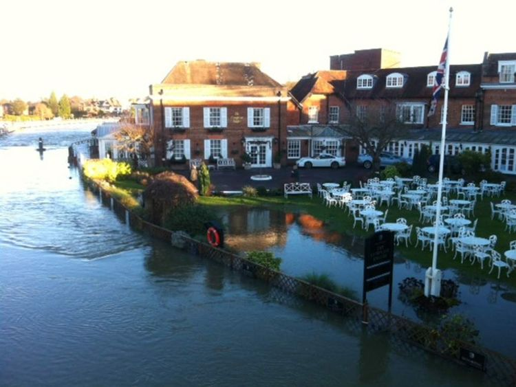 Flooding in Marlow