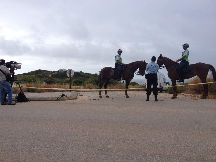 Police continue to search scrubland in Portugal.