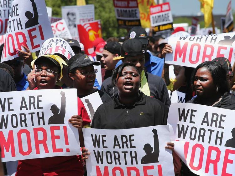 Fast Food Workers Protest For Increased Wages Ahead Of McDonald's Annual Shareholder Meeting
