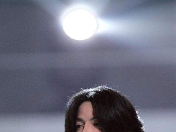 US singer Michael Jackson performs at the World Music Awards in Earls Court, London in 2006