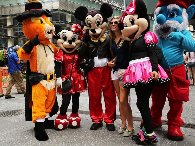 Times Square Costumed Performers