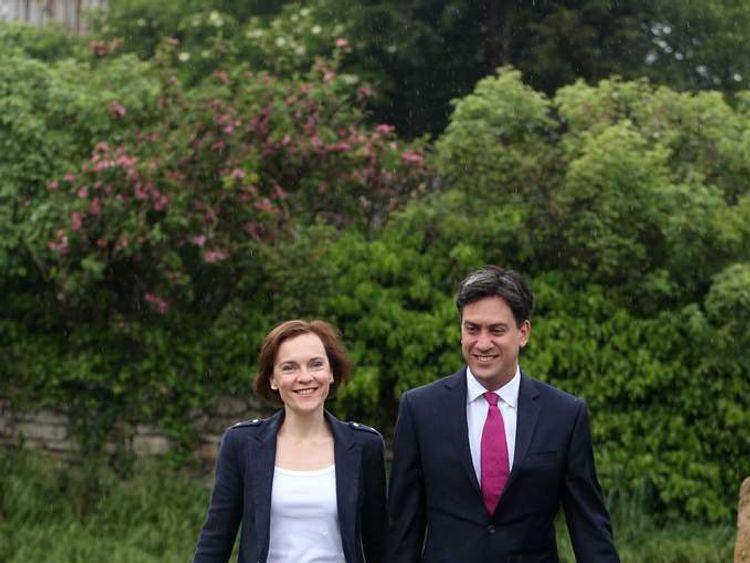 Ed and Justine Miliband