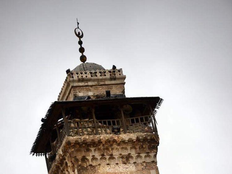Aleppo's Umayyad Mosque