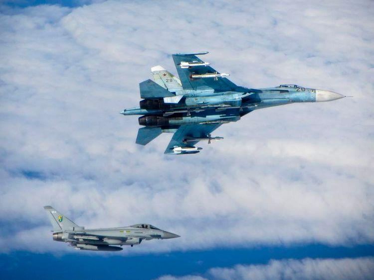 RAF Typhoons intercept Russian aircraft