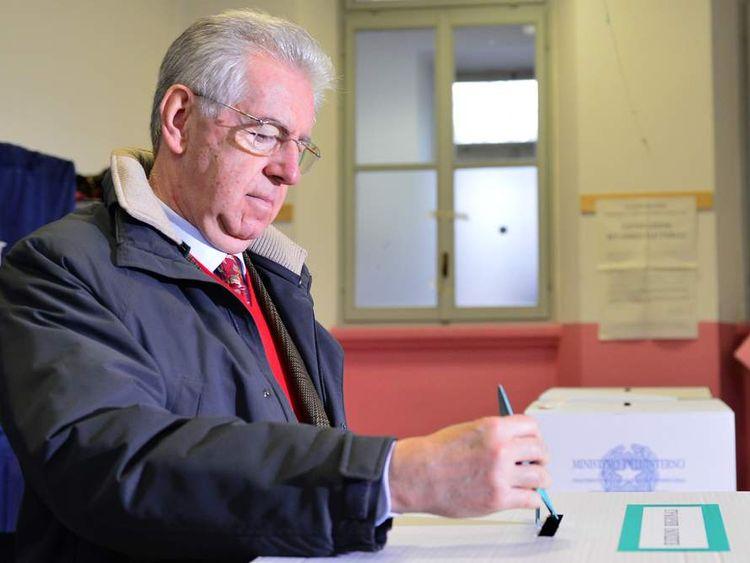 ITALY-VOTE-MONTI
