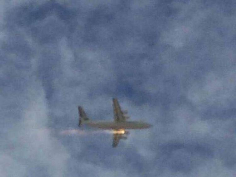 A plane on fire near Perth Domestic Airport in Australia. Photo courtesy of Community Newspaper Group/Matt Pilat
