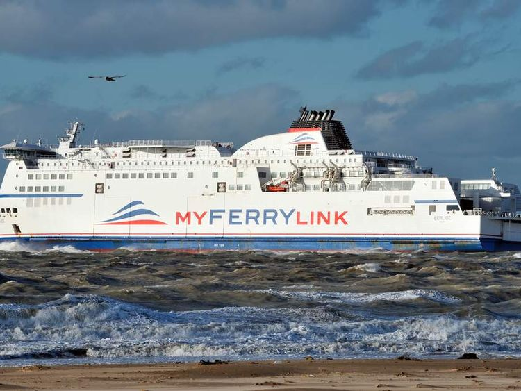A MyFerryLink ship.