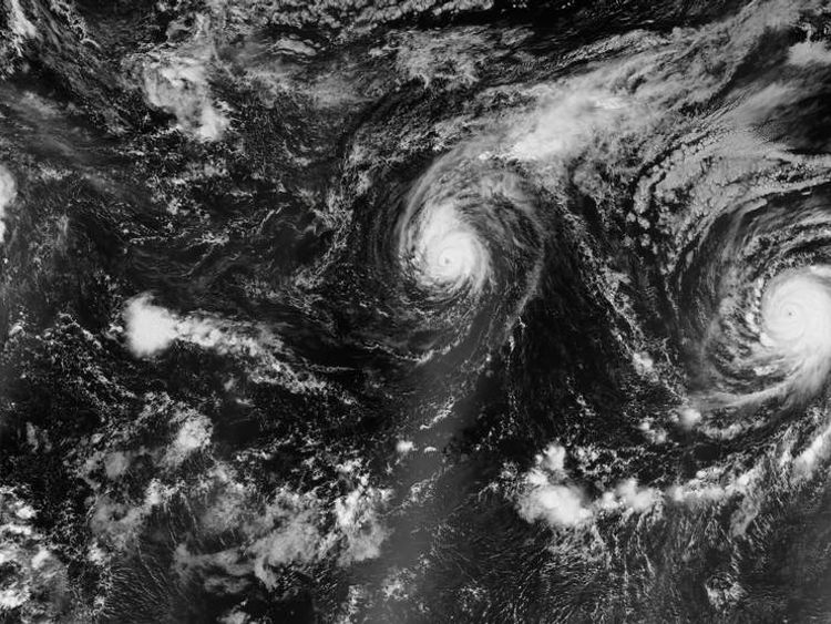 This NASA images show three hurricanes in the Pacific simultaneously