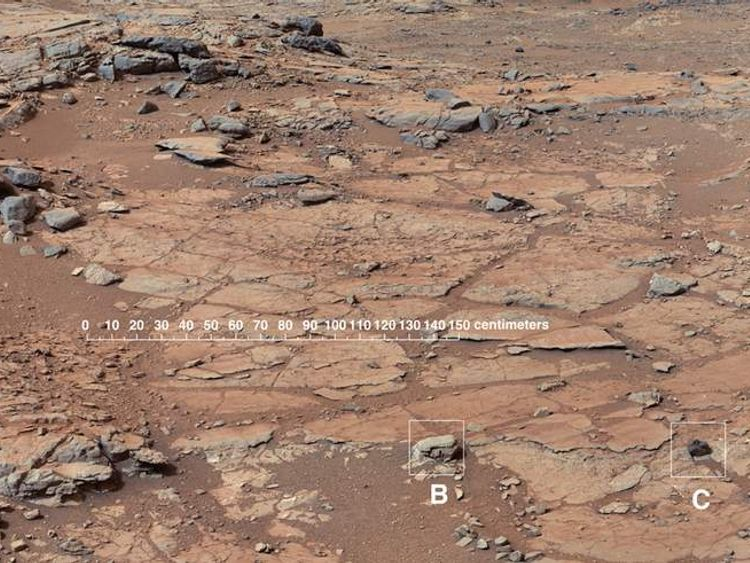 The drill site chosen by NASA for its Curiosity rover