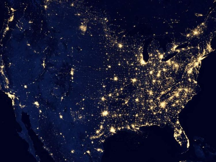 Nasa Image Of US At Night