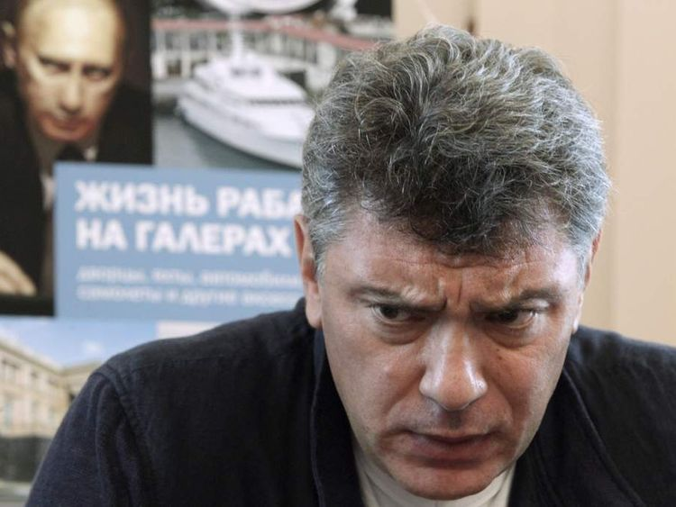 "Opposition leader Boris Nemtsov presents ""The Life of a Galley Slave"""