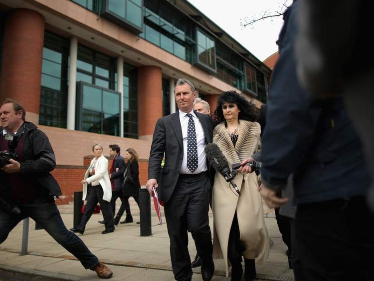 MP Nigel Evans leaves the court after being found not guilty