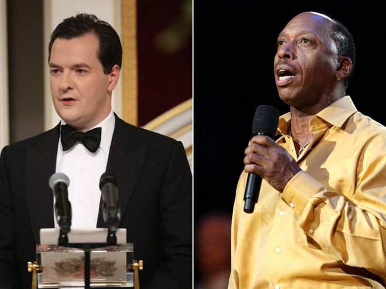 George Osborne and soul singer Jeff Osborne