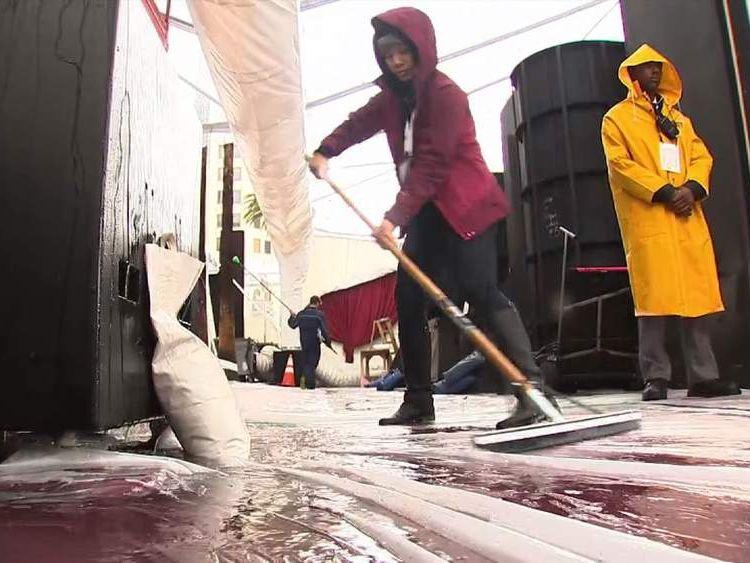 wet weather causing havoc at Oscars