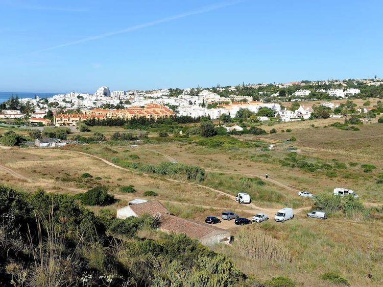 British police and their Portuguese counterparts investigating the disappearance of Madeleine McCann seven years ago from Praia da Luz on the Algarve, in Portugal begin to search a patch of scrubland