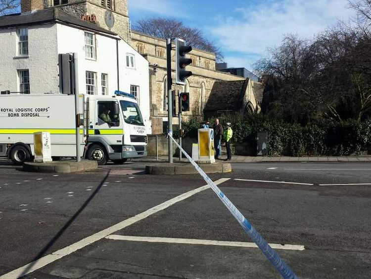 Bomb disposal van in Oxford