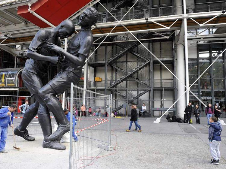 Statue of Zinedine Zidane headbutt