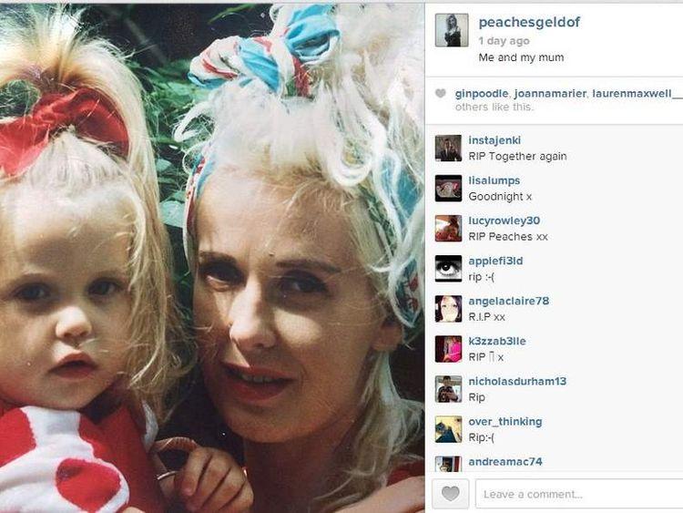 Peaches Geldof's last tweet