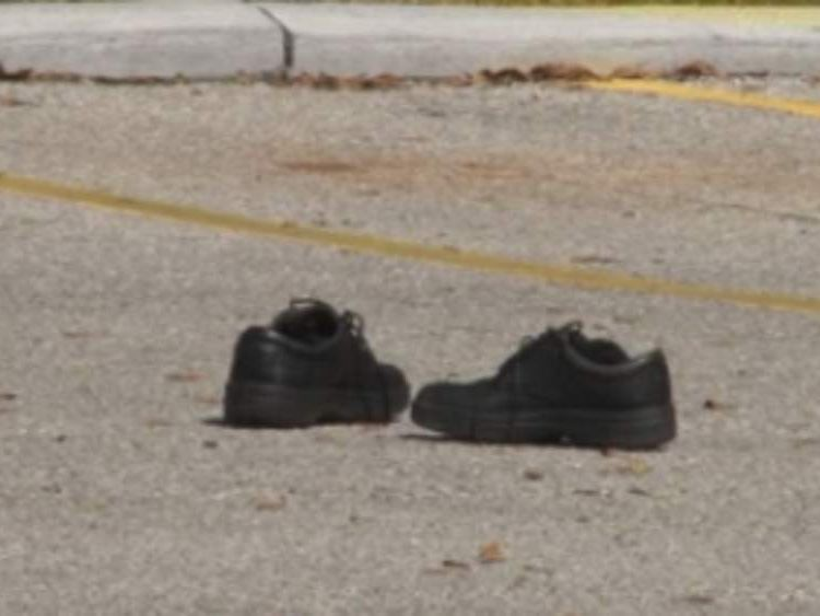 One of the victim's shoes. Pic: WTSP-TV