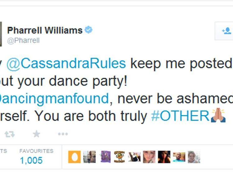 Pharrell tweet