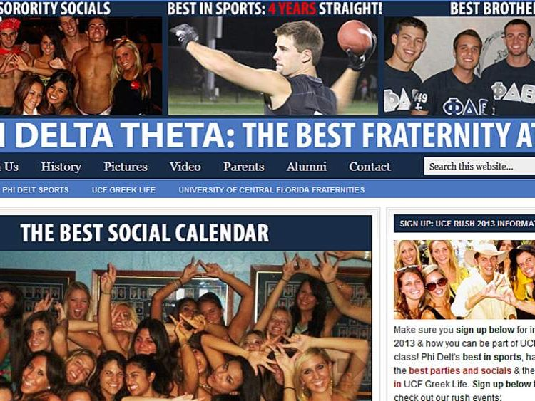The Phi Delta Theta website at UCF