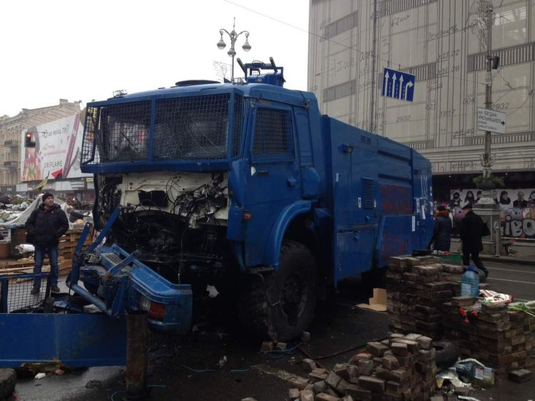 These photos taken by our man in Kiev Andy Gales, show the situation in Ukraine's capital