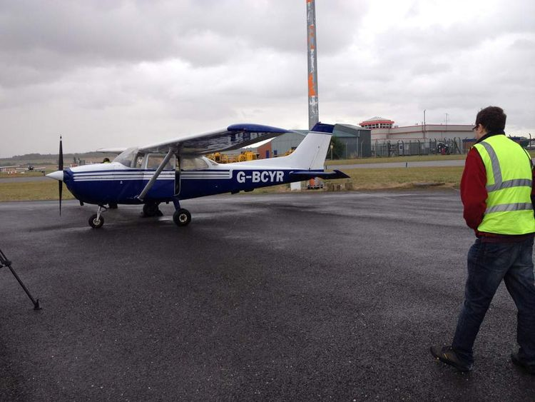 The Cessna aircraft that was landed by a passenger at Humberside airport