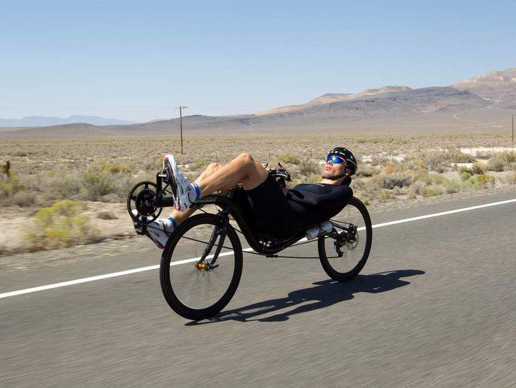Sebastiaan Bowier breaks the bicycle world speed record
