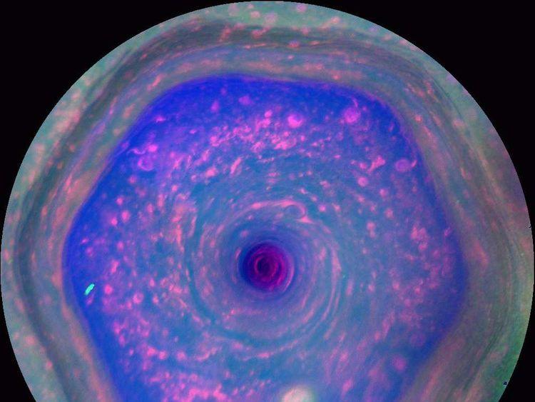 Saturn's 'hexagon' storm, as seen by Cassini. Pic: NASA/JPL-Caltech/SSI/Hampton University
