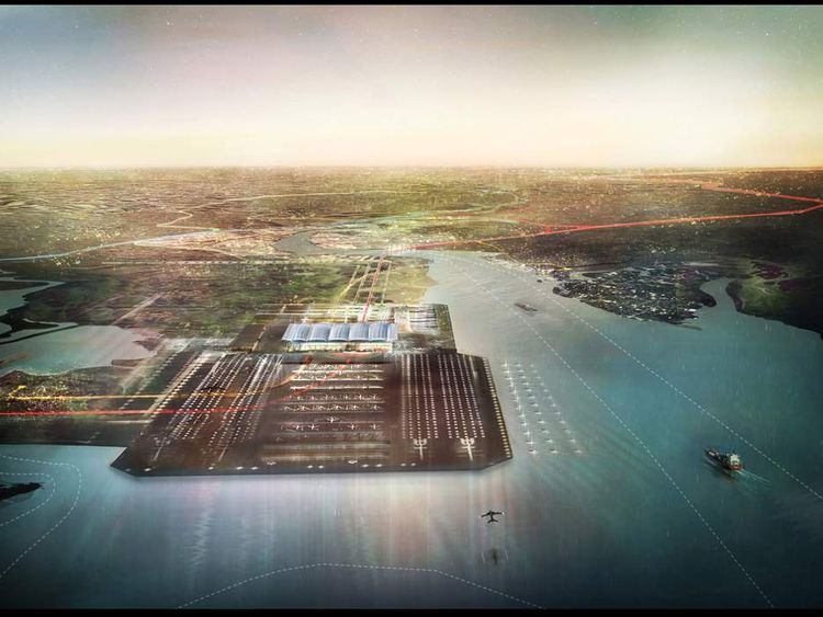 Proposed airport on Isle of Grain (Pic: Foster and Partners)