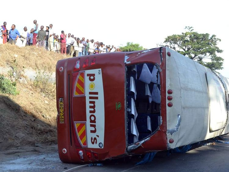 Coach crash in Mombasa, Kenya