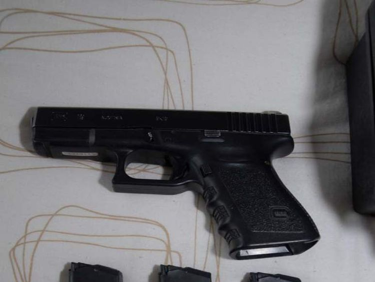 The Glock 9mm gun found at Danny Nightingale's house