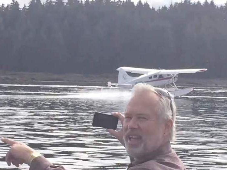 Seaplane almost crashes into whale
