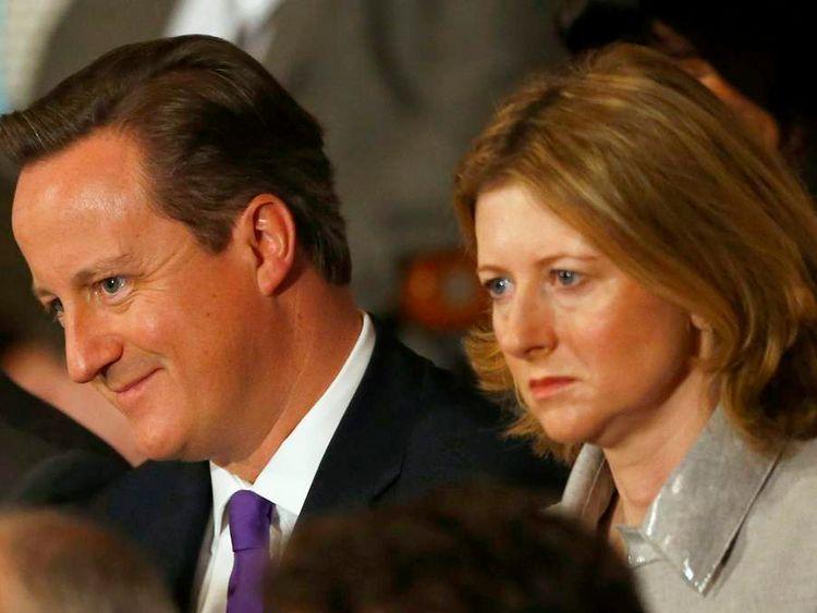David Cameron and Frances Osborne