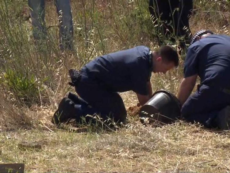 Police Officers start dig in search for Madeleine McCann
