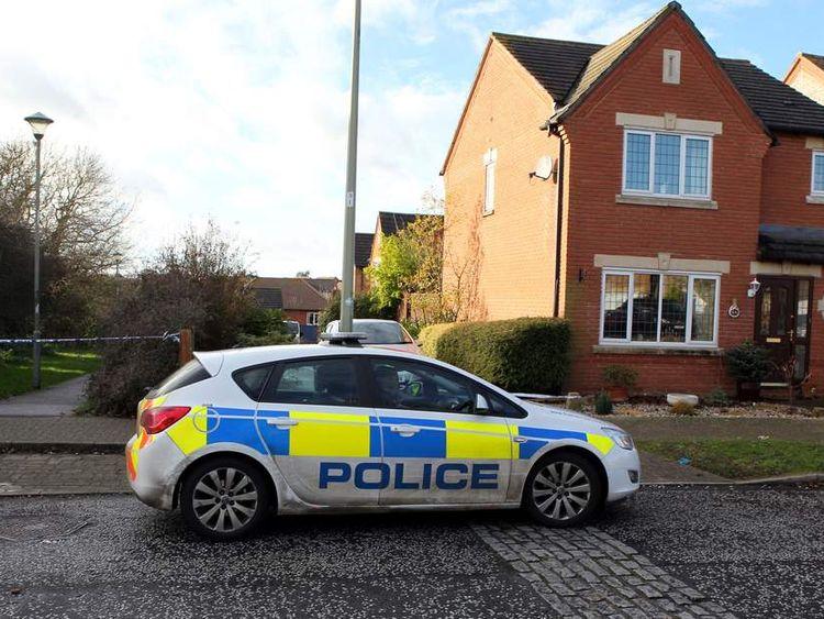 Police at Bicester murder scene