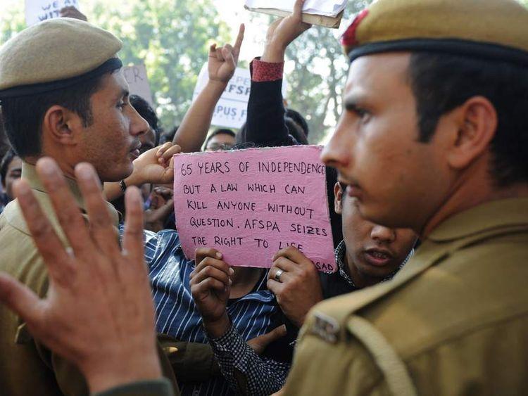 Irom Sharmila court protesters