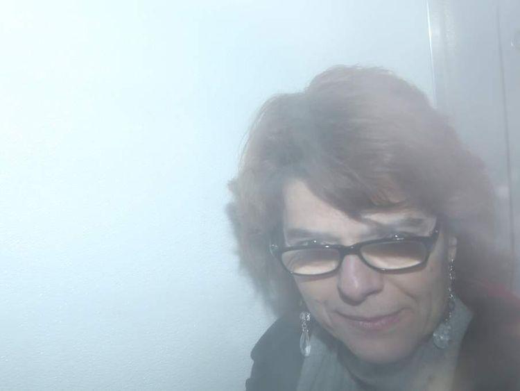 Vicky Pryce in prison van