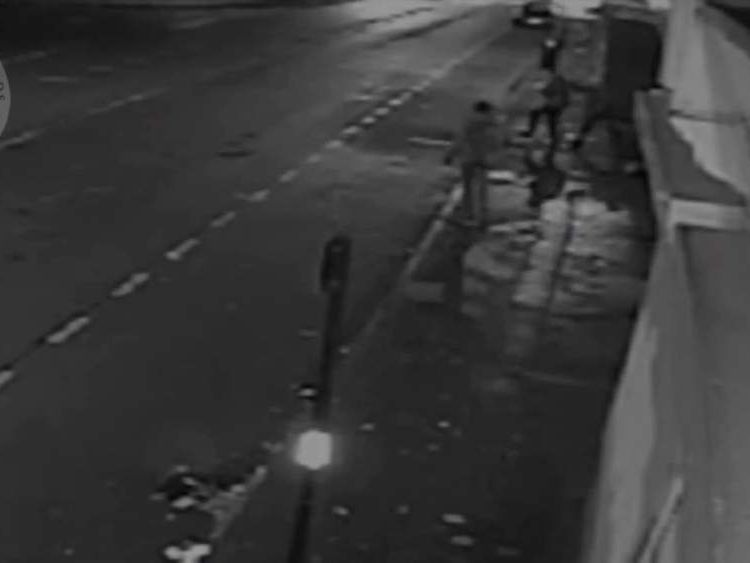 CCTV showing a man punched to the ground