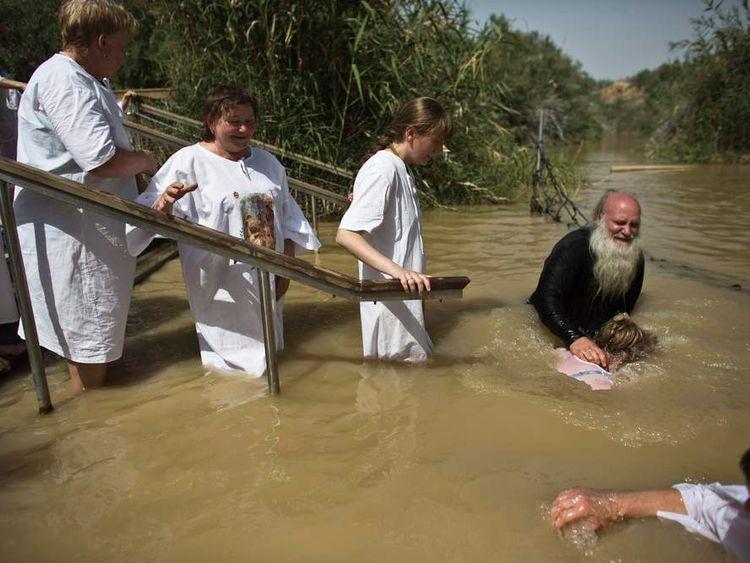 Qasr al Yahud on the banks of the Jordan River near Jericho